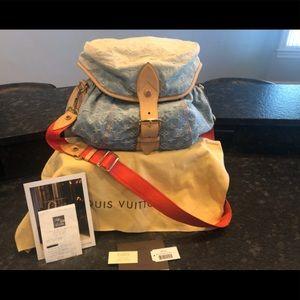 Louis Vuitton Blue Denim Sunshine Shoulder Bag